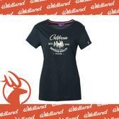 【Wildland 荒野 女 雙色印花抗UV排汗上衣《深藍》】0A61683-72/吸濕排汗/抗紫外線/短袖★滿額送