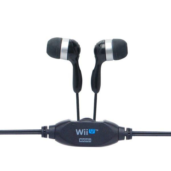 【玩樂小熊】任天堂 Wii U GamePad 專用 HORI 遮音性 防漏音 3.5孔 耳塞式耳機 WIU-023 黑色款