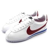 《7+1童鞋》大人款 NIKE WMNS Classic Cortez Leather 阿甘 白鞋 紅勾 綁帶 慢跑鞋 G841 紅色