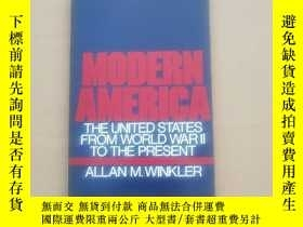 二手書博民逛書店MODERN罕見AMERICA The United States from World War II to th