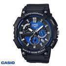 CASIO 大錶面藍色三眼黑色膠帶錶 50mm MCW-200H-2A 防水 學生錶 當兵軍用錶 公司貨 | 名人鐘錶