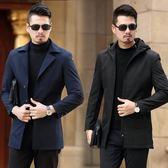 夾克    外套薄款夾克2018新款秋季休閑中長款男士風衣