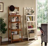 好戰友美式置物架客廳實木落地書架臥室轉角架層架多層收納木架子