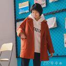 青薔薇冬季復古寬鬆外套女裝中長款日系學生休閒大衣YYJ 卡卡西