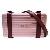 Dior and Rimowa Personal Clutch 粉紅色鋁質和小牛皮旅行箱手拿包 斜背包 BRAND OFF