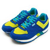 LIKA夢 PONY 繽紛韓風復古慢跑鞋 SOLA-V 彩虹系列 藍黃 52W1SO61RB 女 6折好康