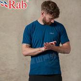 Rab QBU55-IK墨藍 男圓領快乾排汗衫  Force戶外中層衣/防曬機能服/抗UV排汗衣/路跑運動衫