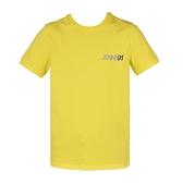 【南紡購物中心】ARMANI JEANS 網眼印花圓領短袖T恤-黃
