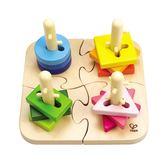 德國Hape愛傑卡-創意樁木幾何拼圖