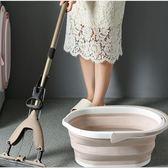 便攜式摺疊洗車提水桶家用大號拖把桶長方形加厚手提塑料桶儲水桶     科炫數位