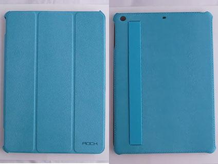 ROCK Apple iPad Air 平板側翻皮套/保護套/平板套/保護殼 Texture 紋系列 咖啡