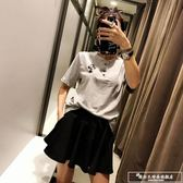 夏季矮個子氣質晚晚風復古網紅港味社會女神范短裙兩件套裝女時尚『韓女王』