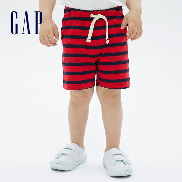 Gap嬰兒 布萊納系列 可愛透氣條紋短褲 691324-紅藍條紋