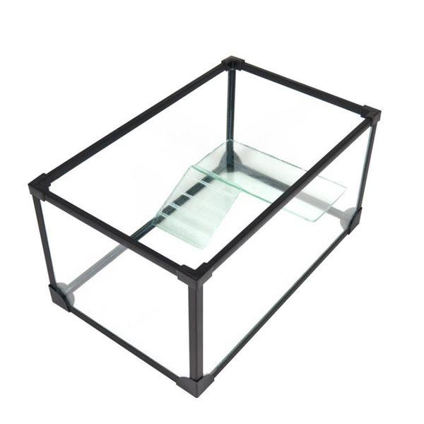 烏龜缸帶曬台玻璃別墅龜魚缸巴西草鱷龜大小型爬寵飼養水陸缸新品  igo 可然精品鞋櫃