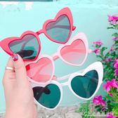 韓國ulzzang愛心少女心凹造型素顏風墨鏡太陽眼鏡『CR水晶鞋坊』