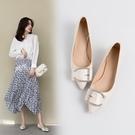 大尺碼女鞋34-43 2021歐美時尚優雅方扣尖頭低跟鞋~3色