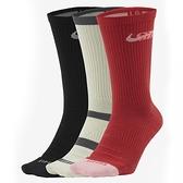 NIKE 長襪 運動襪 SB EVERYDAY MAX CREW 襪子 三雙一組 小腿襪(布魯克林) CU6588-901