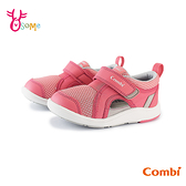 COMBI童鞋 寶寶鞋 女童機能涼鞋 學步鞋 CORE-S 魔鬼氈 護趾涼鞋 包頭涼鞋 速乾 A1904#粉紅◆奧森