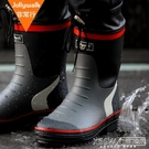 男時尚膠鞋春夏男士雨靴水鞋男套鞋釣魚鞋中筒防水防滑水靴CY『新佰數位屋』