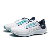 NIKE 休閒鞋 ZOOM PEGASUS 38 小飛馬 白 藍 灰 慢跑鞋 訓練 男 (布魯克林) CW7356-101
