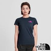【THE NORTH FACE 美國】女 快乾圓領短袖 T恤『海軍藍』NF0A4N9J 戶外 登山 時尚 休閒