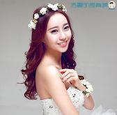 韓式新娘花環頭飾茉莉花髮箍配飾