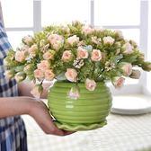 超值推薦客廳餐桌盆栽假花仿真花擺設家居裝飾花花藝套裝絹花擺件·夏茉生活YTL