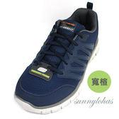 SKECHERS(男) FLEX ADVANTAGE系列 寬楦 運動鞋 健走鞋-58353WNVGY 藍 [陽光樂活]
