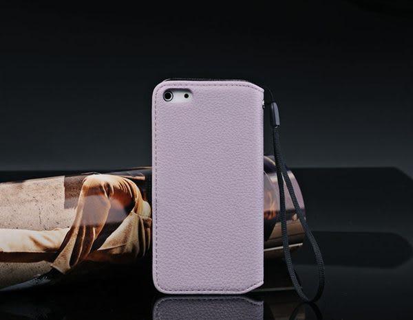 iphone 5 免運 荔枝紋蘋果iphone5皮套 手機殼 保護殼 側翻插卡保護皮套