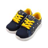 ARRIBA 亮蔥側拉鍊運動鞋 藍 TD-6295 中大童鞋 鞋全家福