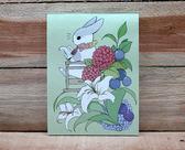 麻幾兔 ㄇㄚˊ幾兔 嘛吉兔 ㄇㄚˊ幾四色信紙(看書) 花草【金玉堂文具】