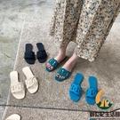 拖鞋女夏外穿糖果色沙灘平底鞋露趾軟底涼拖鞋【創世紀生活館】