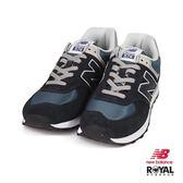 New Balance 新竹皇家 574 藍綠色 麂皮 網布 休閒運動鞋 男款 NO.B0271