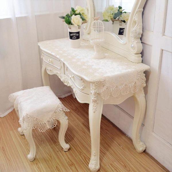 梳妝台桌布蕾絲公主風歐式臥室現代簡約布藝美甲桌鞋櫃化妝台蓋布 解憂雜貨鋪