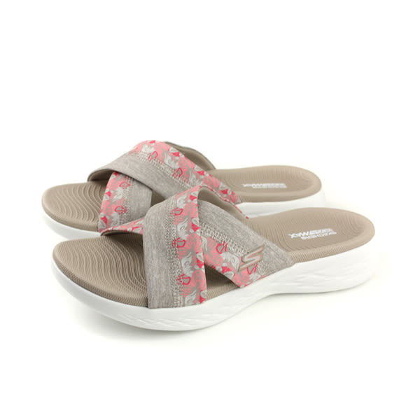 SKECHERS ON-THE-GO 600 涼鞋 拖鞋式 女鞋 棕色/花朵 15306TPE no829