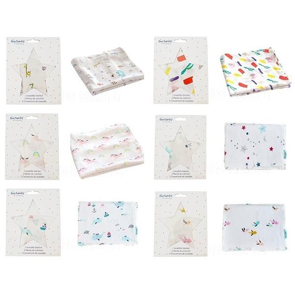 美國tiny twinkle Swaddle Blanket Single 紗布巾單入 ( 6款花色可選 )
