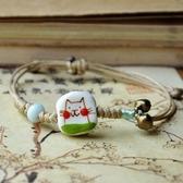 陶瓷手環-手工繪製情人節生日禮物女串珠手鍊73gw151【時尚巴黎】