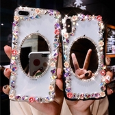 IPhone12 iPhone11 Pro Max 12mini SE2 XS Max IX XR i8 i7 Plus i6S 小花邊框 蘋果手機殼 水鑽殼 訂製