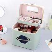化妝包新款超火大號容量手提收納箱手拎便攜時尚洋氣超大盒品 快速出貨