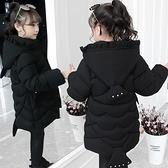 羽絨外套秋冬羽絨服 寬鬆韓版外套中大童上衣 加絨棉服洋氣兒童夾克外套 潮流女童外套女孩棉衣