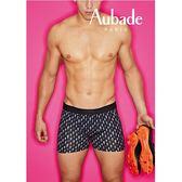 Aubade man-壞男人M-XL舒棉平口褲(閃電-黑)