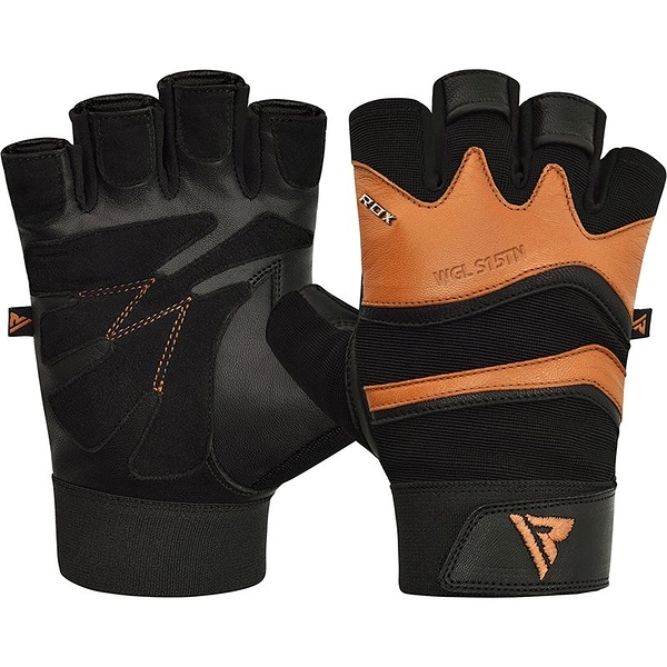 【線上體育】RDX GYM GLOVE LEATHER S15 TAN