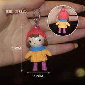 韓國可愛鑰匙扣女孩汽車鈴鐺創意卡通毛球鈴鐺鑰匙圈