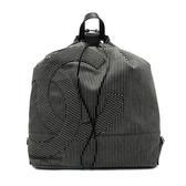 【台中米蘭站】全新品 CHANEL 單寧直條紋大logo後背包(黑)