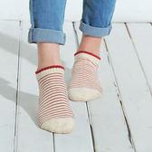 【101原創】台灣製.毛巾底柔棉條紋踝襪(女)共5色