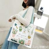環保袋ins小清新帆布包女日系文藝環保袋學生手提夏款仙女漂亮的側背包榮耀 新品