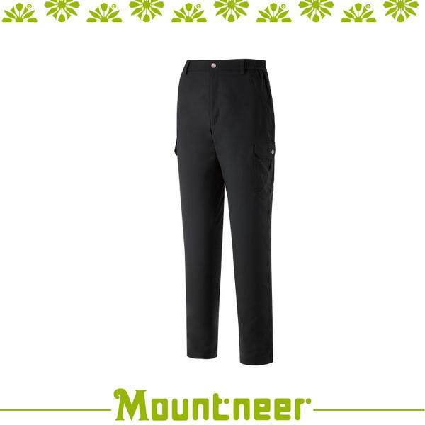 【Mountneer 山林 男 彈性抗UV休閒長褲《黑》】31S21/排汗長褲/機能長褲/登山/戶外/夏季長褲