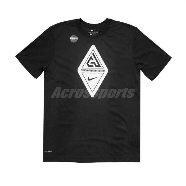 Nike 短袖T恤 Giannis Dri-Fit Tee 黑 白 男款 休閒 【PUMP306】 BV8268-010