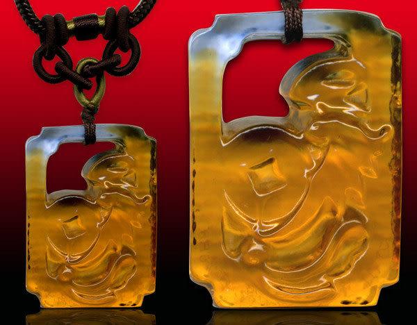 鹿港窯~居家開運水晶琉璃項鍊~眼前富 附精美包裝◆免運費送到家