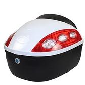 機車後尾箱-堅固耐用安全鎖扣摩托車置物箱用品6色73q11[時尚巴黎]